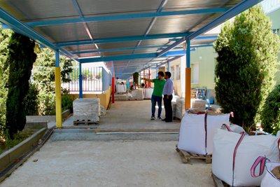 Las obras de mejora del colegio San Gregorio en Galapagar siguen a buen ritmo