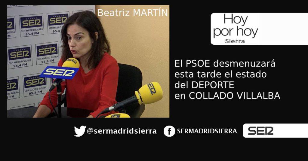 HOY POR HOY SIERRA. BEATRIZ MARTÍN Y LA MOCIÓN SOBRE EL DEPORTE