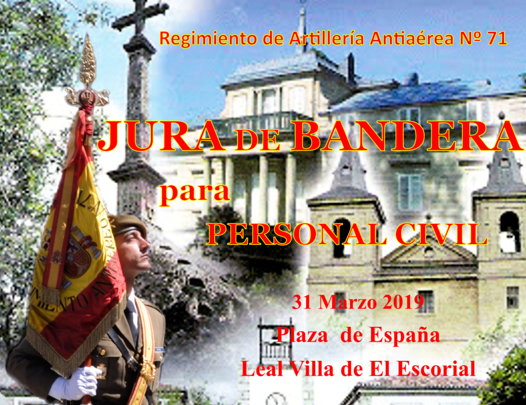 JURA DE BANDERA CIVIL EN EL ESCORIAL