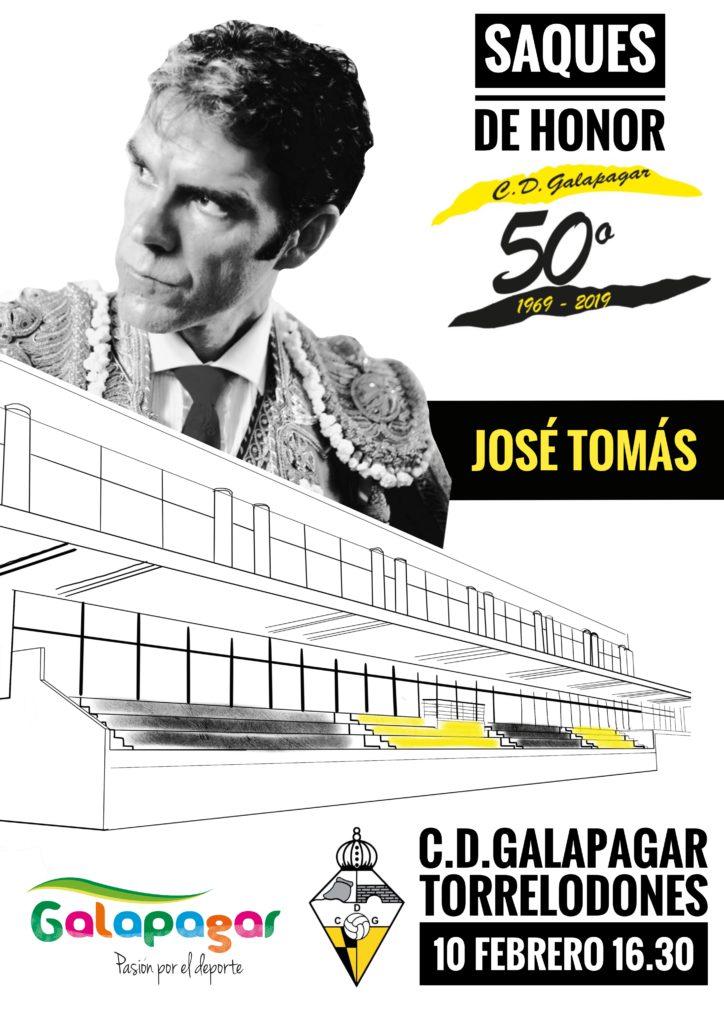 JOSE TOMAS REALIZARA ESTE DOMINGO EL SAQUE DE HONOR ANTES DEL DERBI GALAPAGAR-TORRELODONES