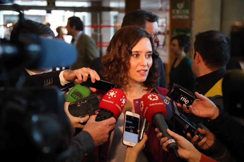 ISABEL DÍAZ AYUSO SE REUNE CON EL GRUPO PARLAMENTARIO POPULAR EN LA ASAMBLEA DE MADRID