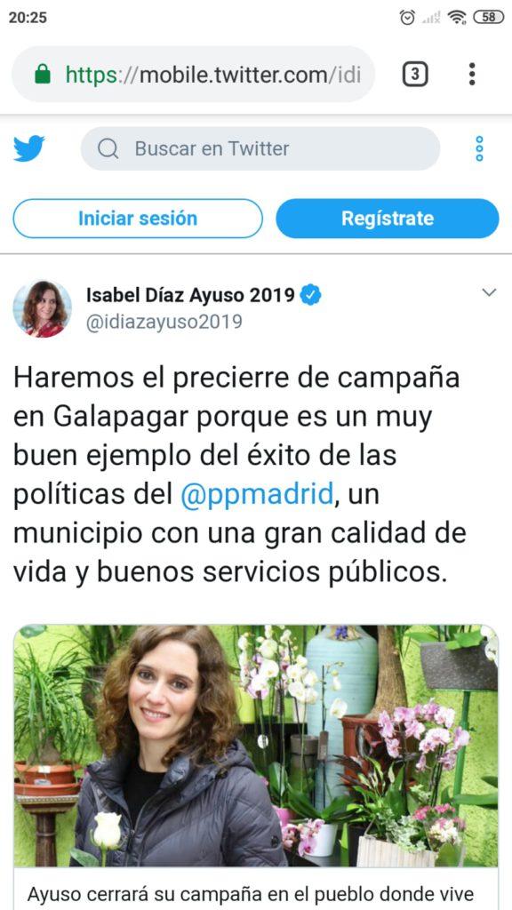 AYUSO CERRARÁ SU CAMPAÑA ELECTORAL EN GALAPAGAR