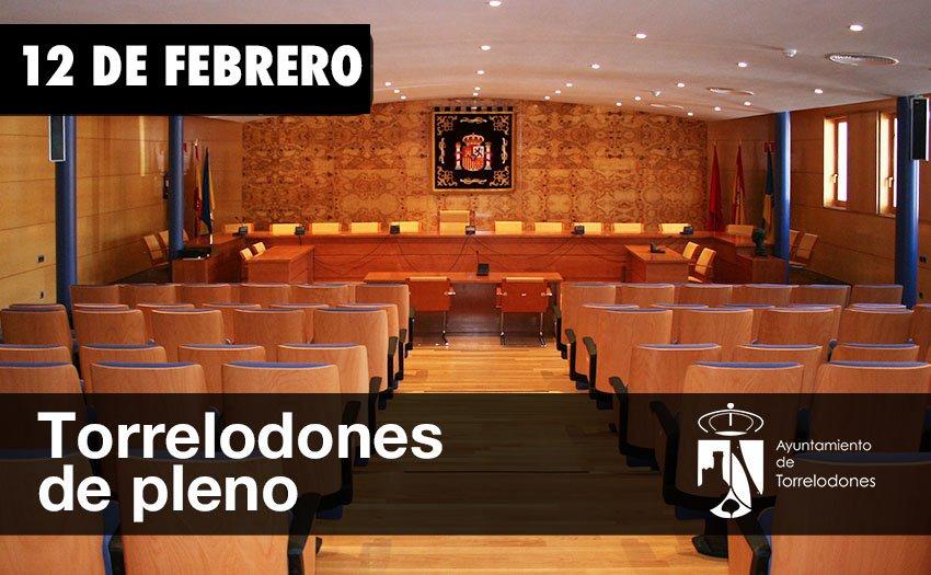 PLENO EN TORRELODONES EL 12 DE FEBRERO