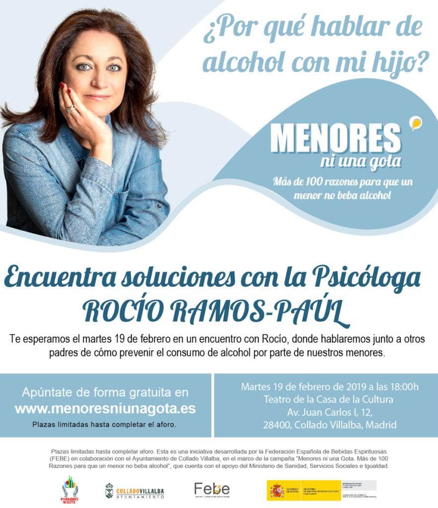 COLLADO VILLALBA ACOGE UNA CHARLA PARA LA PREVENCIÓN DEL CONSUMO DE ALCOHOL EN MENORES