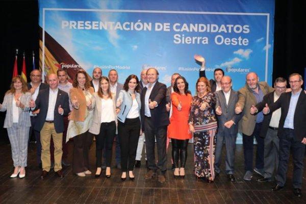 AYUSO PRESENTÓ A LOS CANDIDATOS POPULARES DE LOS 20 MUNICIPIOS DEL OESTE