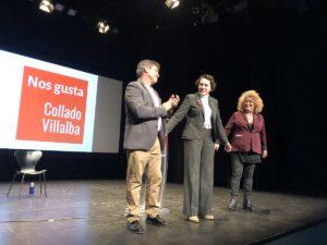LOS SOCIALISTAS SE PRESENTAN  EN COLLADO VILLALBA ARROPADOS POR LA MINISTRA VALERIO