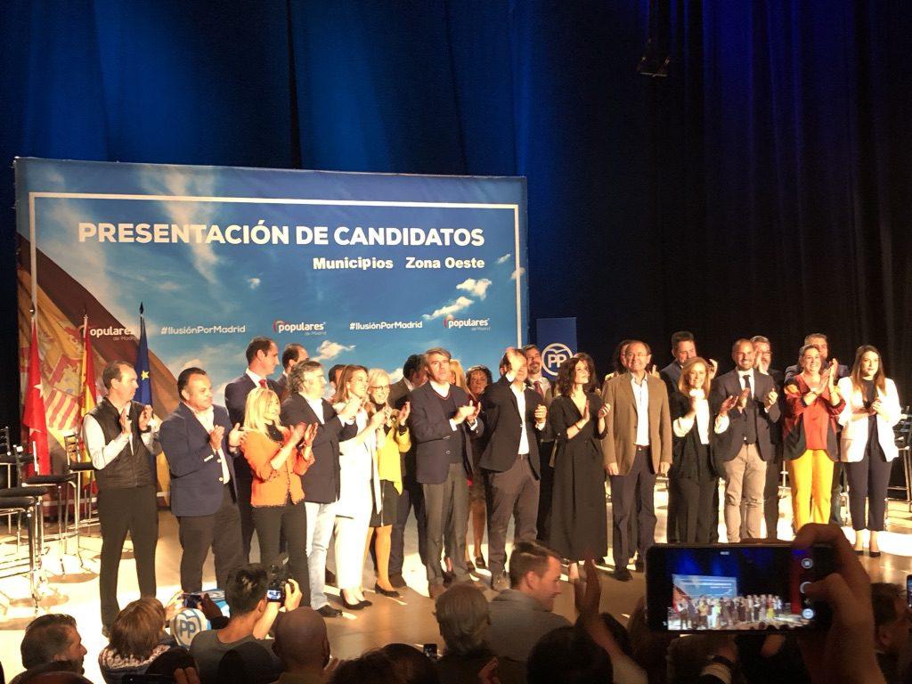 García-Escudero y Díaz Ayuso han presentado a los 22 candidatos de la zona noroeste de Madrid en Las Rozas