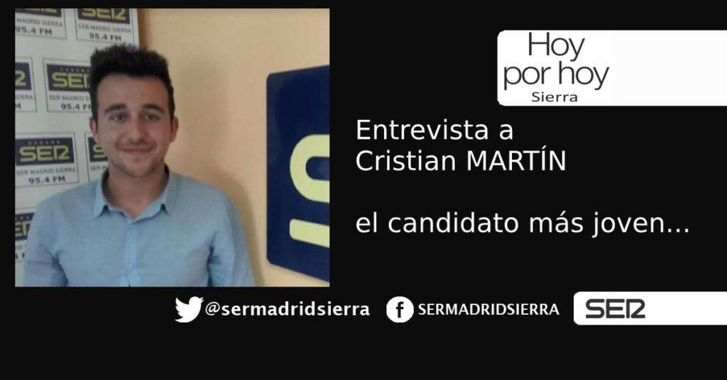 HOY POR HOY SIERRA. ENTREVISTA A CRISTIAN MARTIN