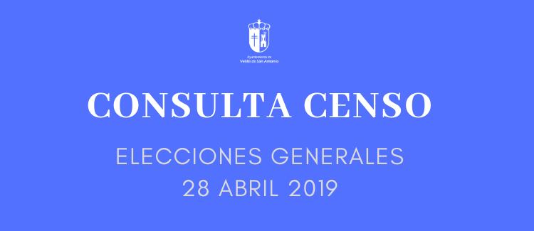 DESDE EL LUNES DÍA 11 SE EXPONE EL CENSO ELECTORAL PARA SU CONSULTA