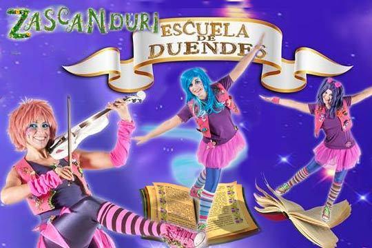 MAÑANA SÁBADO, DÍA 2, MUSICAL INFANTIL ZASCANDURI: ESCUELA DE DUENDES EN GALAPAGAR