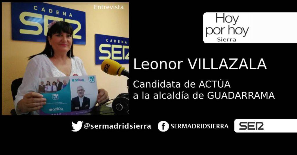 HOY POR HOY. ENTREVISTA A LEONOR VILLAZALA. (CANDIDATA DE ACTÚA)
