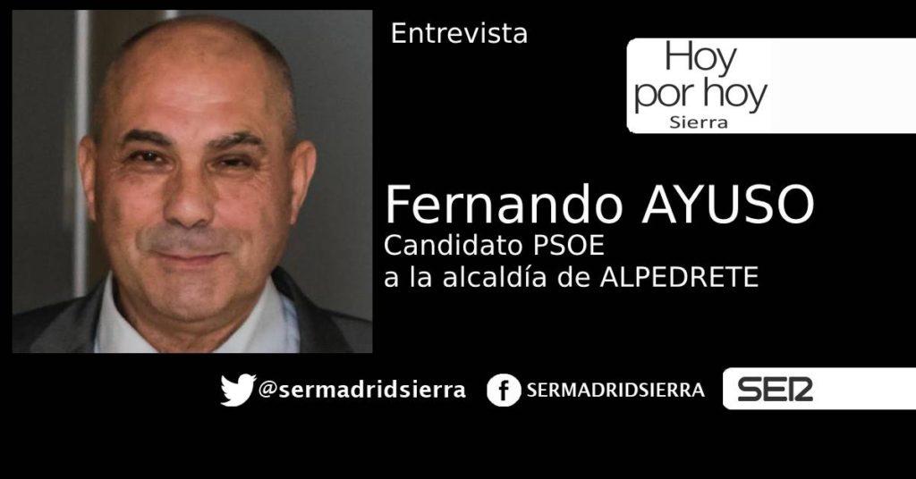 HOY POR HOY, ENTREVISTA A FERNANDO AYUSO, CANDIDATO PSOE ALPEDRETE