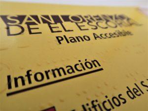 TURISMO DE SAN LORENZO EDITA UN MAPA DEL MUNICIPIO EN BRAILLE PARA VISITANTES INVIDENTES