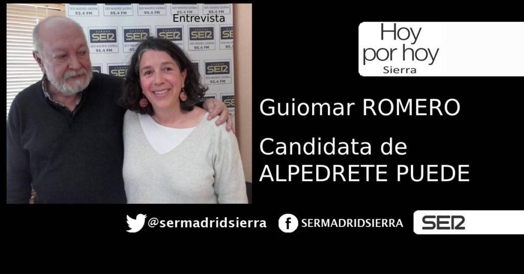 HOY POR HOY. ENTREVISTA A GUIOMAR ROMERO (ALPEDRETE PUEDE)