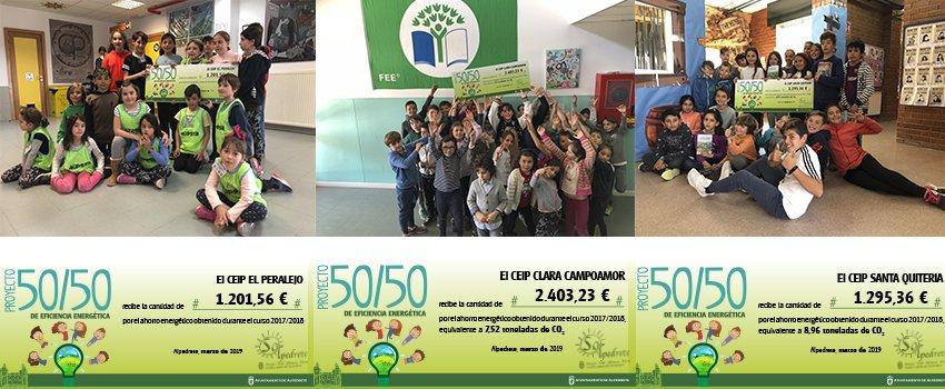 TRES COLEGIOS DE ALPEDRETE AHORRARON CASI 10.000 EUROS EN ENERGÍA