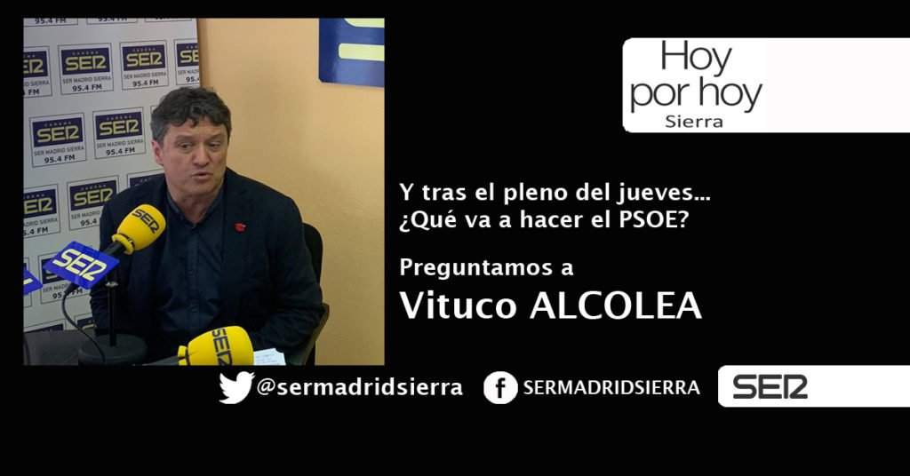 HOY POR HOY. PREGUNTAMOS A VITUCO ALCOLEA POR EL PLENO DEL PASADO JUEVES