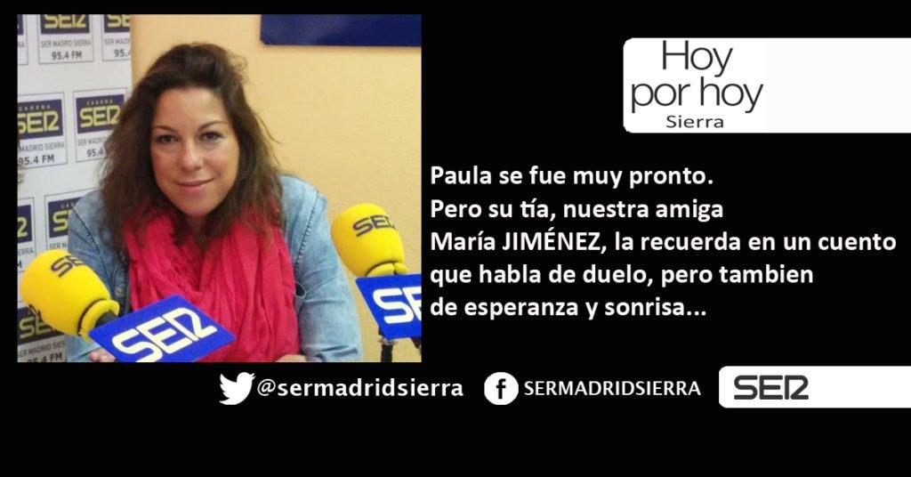HOY POR HOY. MARÍA JIMÉNEZ NOS HABLA DE «EL LEGADO DE PAULA»