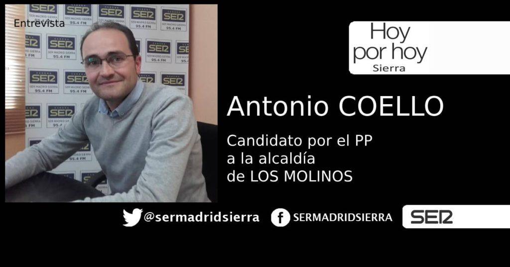 HOY POR HOY. ENTREVISTA A ANTONIO COELLO, CANDIDATO ALCALDÍA LOS MOLINOS