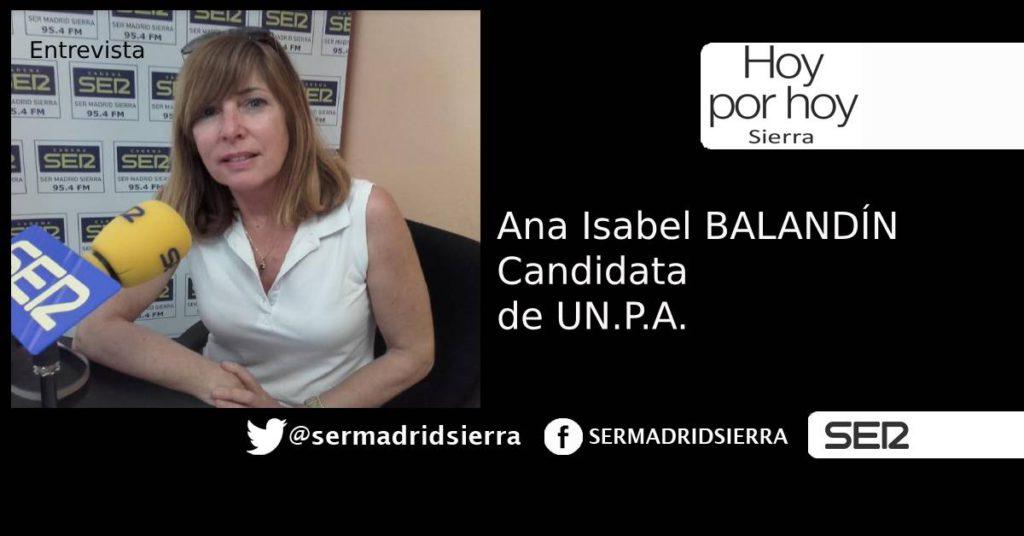 HOY POR HOY. ENTREVISTA A ANA BALANDIN, CANDIDATA DE UN.P.A.