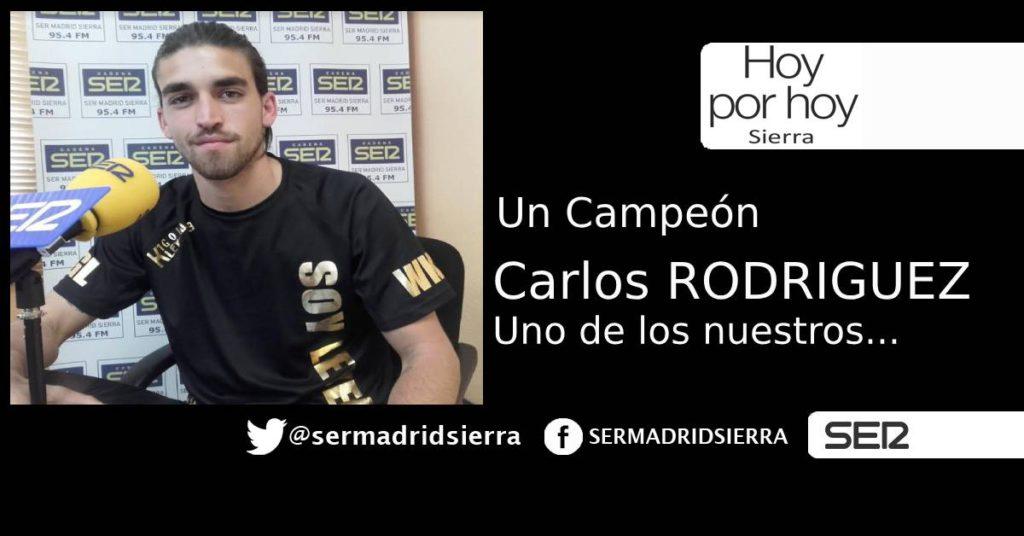 HOY POR HOY. CON CARLOS RODRIGUEZ, TODO UN CAMPEÓN