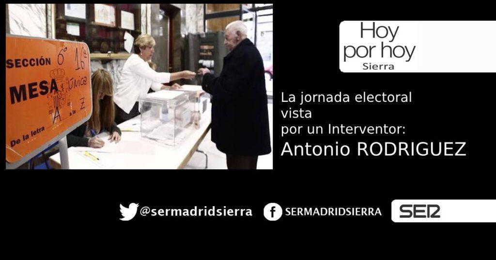 HOY POR HOY. ANTONIO RODRIGUEZ NOS DIBUJA LA JORNADA EN UN COLEGIO ELECTORAL