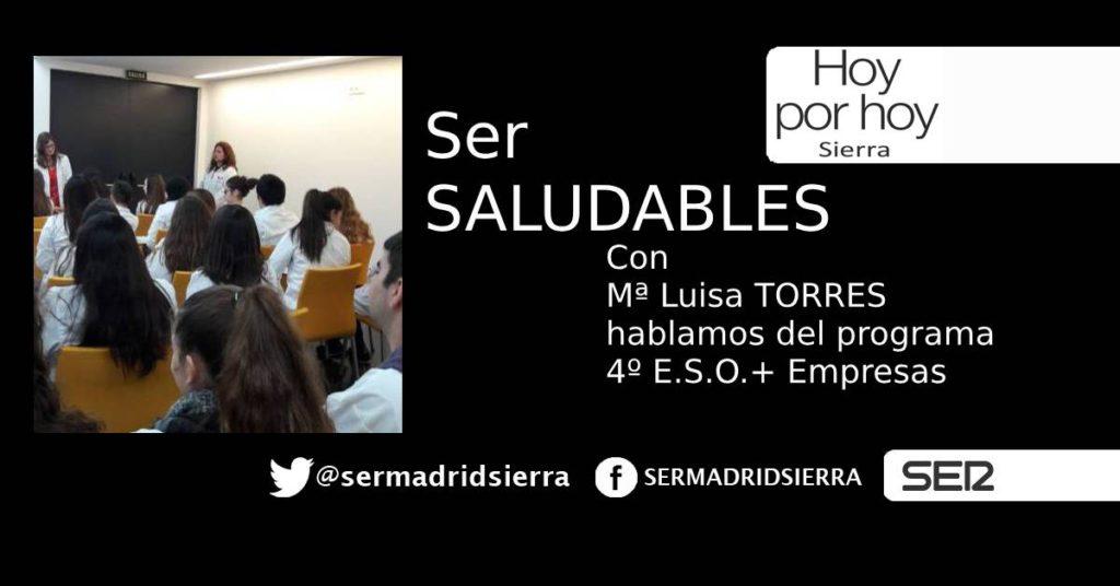 HOY POR HOY. SER SALUDABLES.PROGRAMA 4º ESO+EMPRESAS