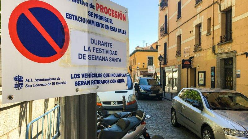 CORTES DE TRÁFICO EN SAN LORENZO DE EL ESCORIAL CON MOTIVO DE LA SEMANA SANTA
