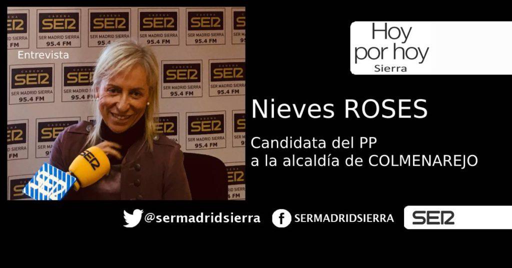 HOY POR HOY. ENTREVISTA A NIEVES ROSES, CANDIDATA PP ALCALDÍA DE COLMENAREJO