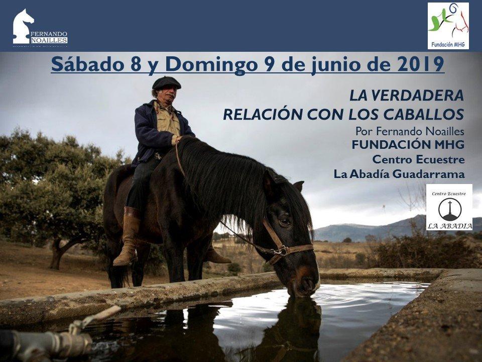 """EL """"SUSURRADOR DE CABALLOS"""" FERNANDO NOAILLES Y LA FUNDACIÓN MHG DE GUADARRAMA OFRECEN UN CURSO PARA TRABAJAR SOBRE LA RELACIÓN CON LOS CABALLOS"""