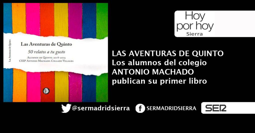 HOY POR HOY. LOS ALUMNOS DEL COLEGIO ANTONIO MACHADO PUBLICAN SU PRIMER LIBRO