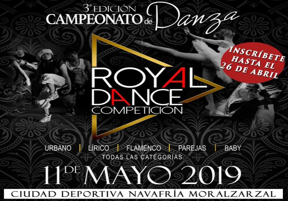 MAÑANA SÁBADO LA CIUDAD DEPORTIVA DE MORALZARZAL ACOGE EL CAMPEONATO NACIONAL DE DANZA «ROYAL DANCE»