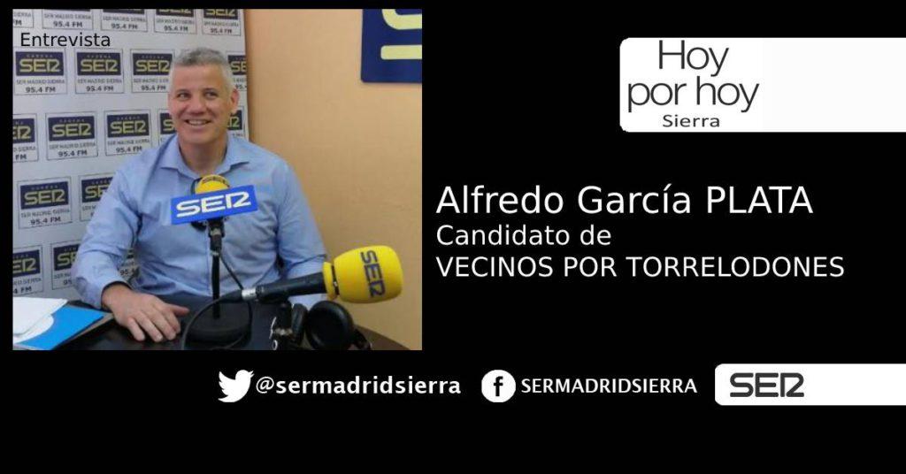 HOY POR HOY. ENTREVISTA A ALFREDO G. PLATA, CANDIDATO DE VECINOS X TORRELODONES