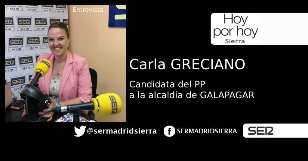 HOY POR HOY. ENTREVISRTA A CARGA GRECIANO, CANDIDATA PP ALCALDÍA DE GALAPAGAR