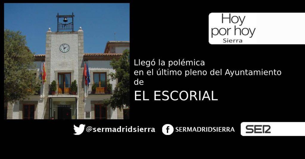 HOY POR HOY. ABANDONOS EN EL ÚLTIMO PLENO DE EL ESCORIAL