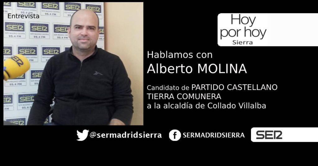 HOY POR HOY. ENTREVISTA A ALBERTO MOLINA (TIERRA COMUNERA)
