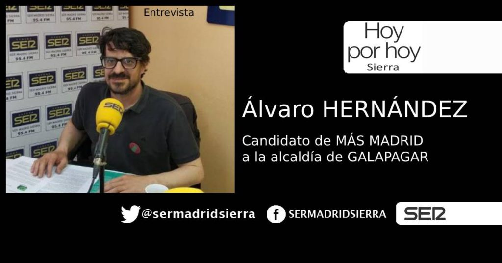 HOY POR HOY. ALVARO HERNANDEZ, CANDIDATO MAS MADRID EN GALAPAGAR