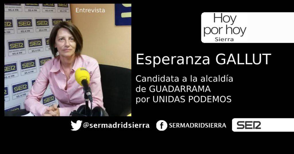 HOY POR HOY. CON ESPERANZA GALLUT, CANDIDATA UNIDAS PODEMOS EN GUADARRAMA