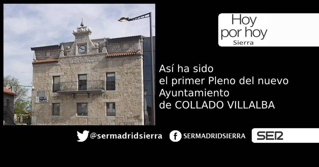 HOY POR HOY. ASI FUE EL PRIMER PLENO DEL AYUNTAMIENTO DE C. VILLALBA
