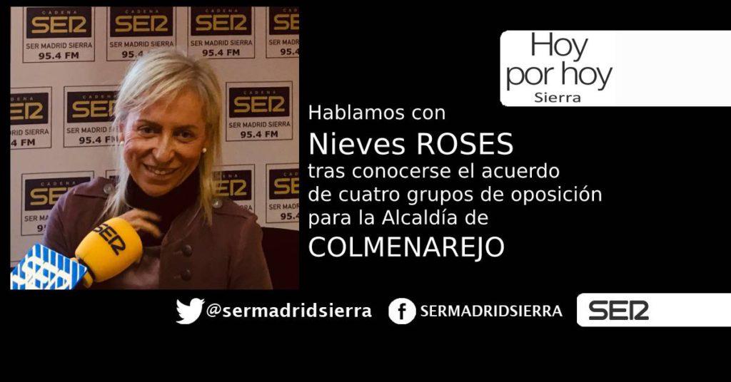 HOY POR HOY. NIEVES ROSES TRAS CONOCER EL ACUERDO DE FUERZAS QUE LE APEARAN DE LA ALCALDÍA