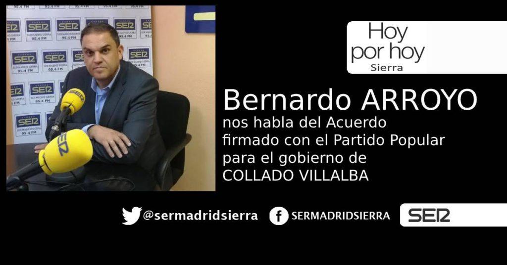 HOY POR HOY. ENTREVISTA A BERNARDO ARROYO SOBRE EL ACUERDO CON EL PP