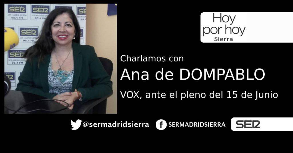 HOY POR HOY. ENTREVISTA A ANA DE DOMPABLO (VOX)