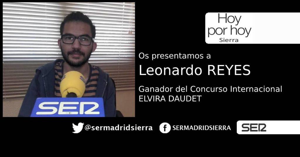 HOY POR HOY. LEONARDO REYES, GANADOR DEL CONCURSO INTERNACIONAL DE POESIA ELVIRA DAUDET