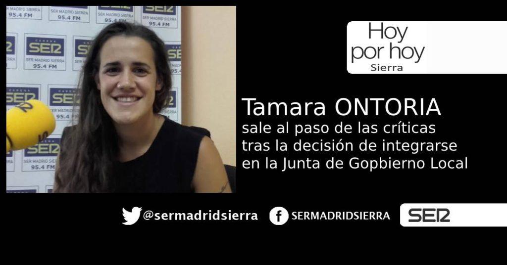 HOY POR HOY. TAMARA ONTORIA SALE AL PASO TRAS UNA DECISIÓN POLÉMICA