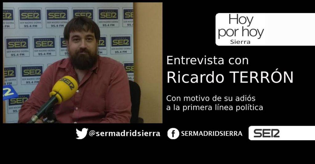 HOY POR HOY. ENTREVISTA A RICARDO TERRÓN EN SU DESPEDIDA DE LA POLÍTICA MUNICIPAL
