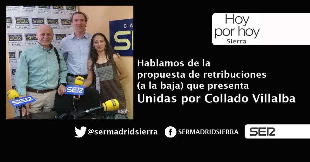 HOY POR HOY. UNIDAS POR COLLADO VILLALBA Y SU PROPUESTA DE RETRIBUCIONES