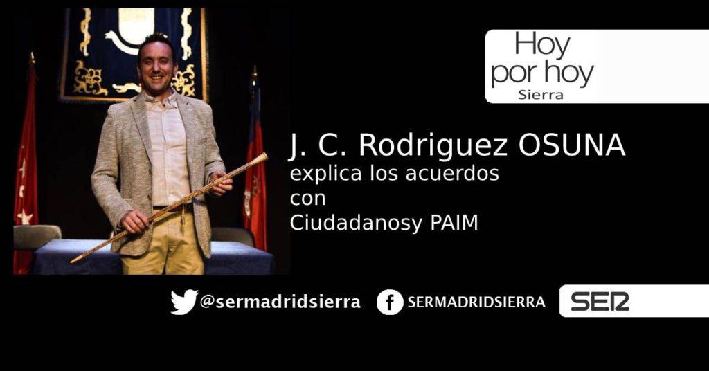 HOY POR HOY. JUAN C. RODRIGUEZ OSUNA HABLA DE SU NUEVO GOBIERNO EN MORALZARZAL