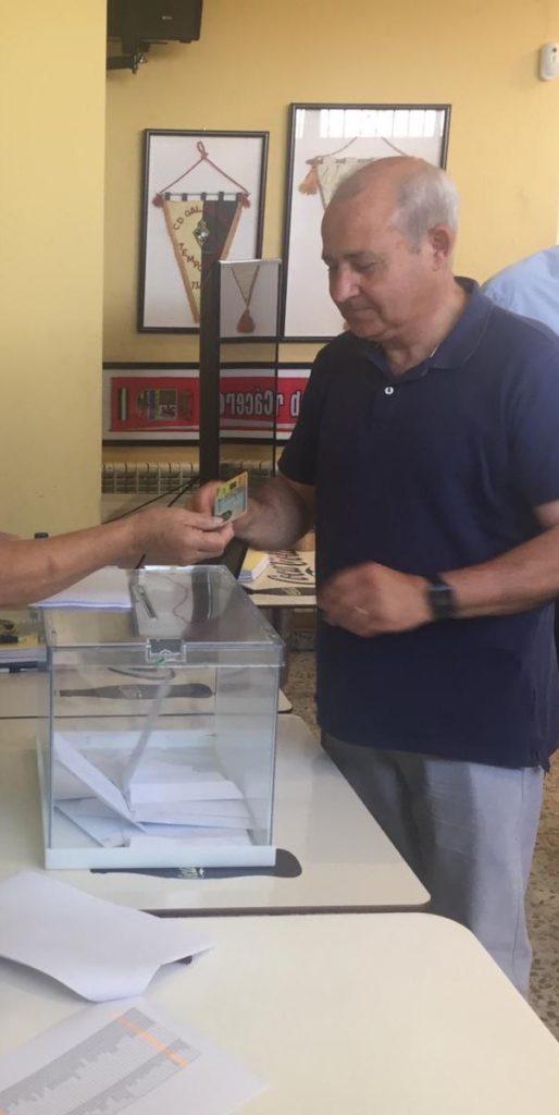 JORGE GRECIANO HABLA DE SUS PROYECTOS COMO REELEGIDO PRESIDENTE DEL CD. GALAPAGAR