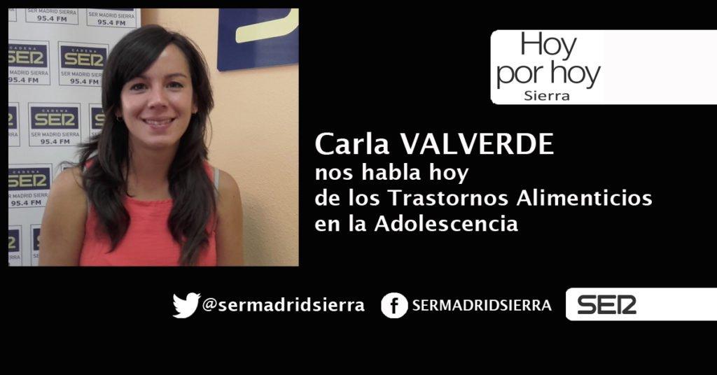 HOY POR HOY. LOS TRASTORNOS ALIMENTICIOS EN LA ADOLESCENCIA. CON CARLA VALVERDE