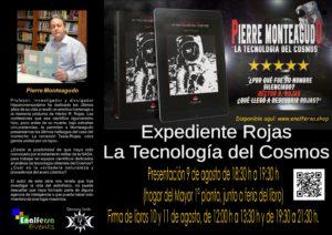 PIERRE MONTEAGUDO PRESENTA EN LA FERIA DEL LIBRO DE GUADARRAMA EXPEDIENTE ROJAS. LA TECNOLOGÍA DEL COSMOS