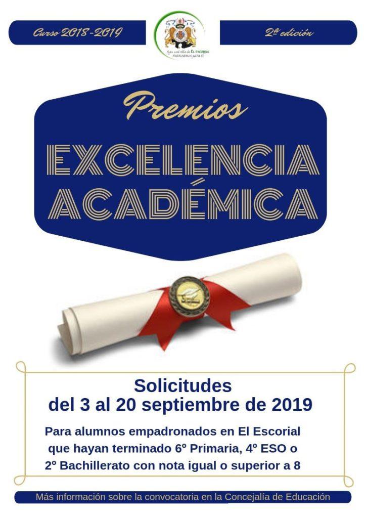 El Ayuntamiento de El Escorial convoca los Premios a la Excelencia en el Estudio